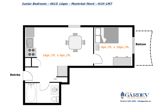 Jr 1 Bedroom Apartment Gardev